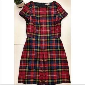 Brooks Brothers Plaid A Line Dress EUC